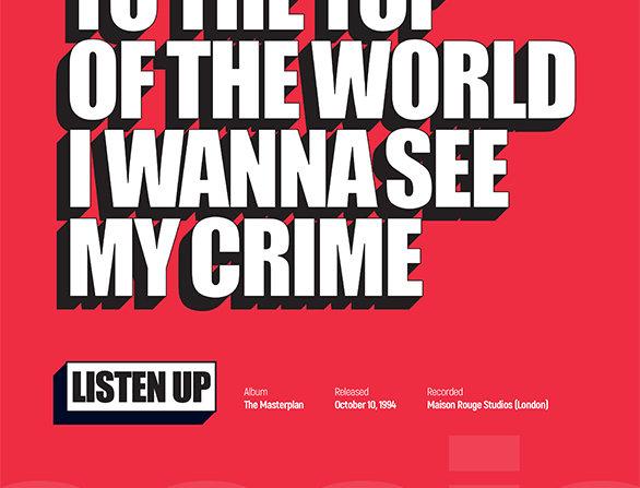 Listen Up Oasis Poster Art Print