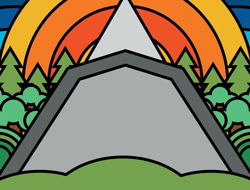 Glastonbury Festival Poster Art Print Pyramid Stage