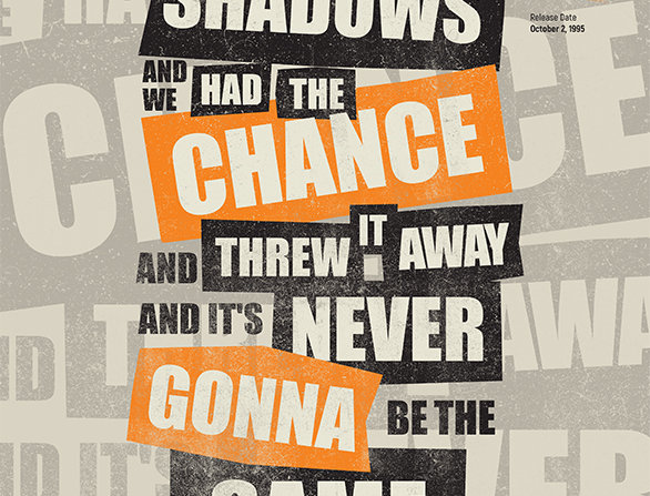 Oasis Hello Lyrics Grunge Poster Art Print