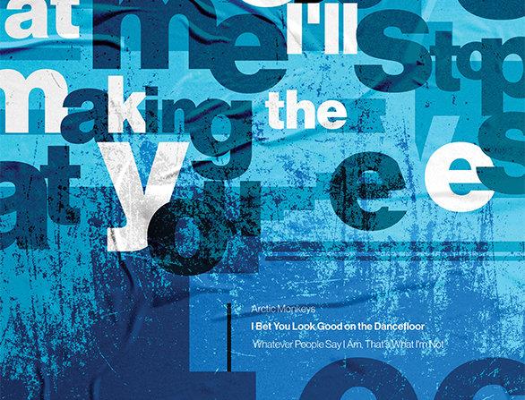 Blue Dancefloor Arctic Monkeys Hacienda Poster Art Print