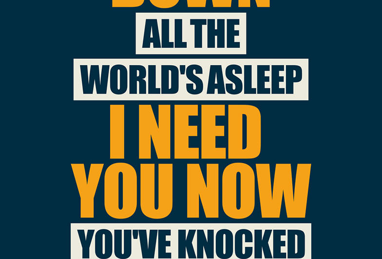 Oasis Slide Away Blue Poster Art Print