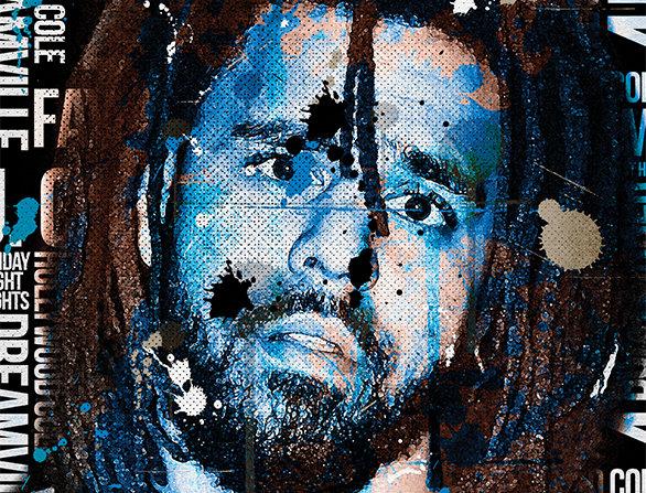 J Cole The Fall Off Graffiti Poster Art Print