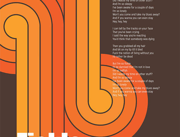 Gerry Cinnamon Fickle McSelfish Poster Art Print