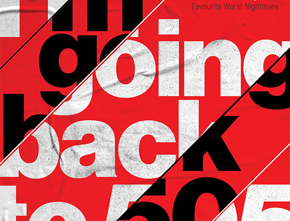Red 505 Arctic Monkeys Hacienda Poster Art Print
