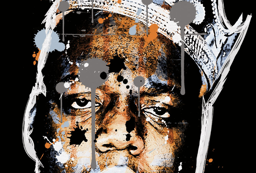 Notorious BIG Graffiti Poster Art Print Brooklyn Hip-Hop