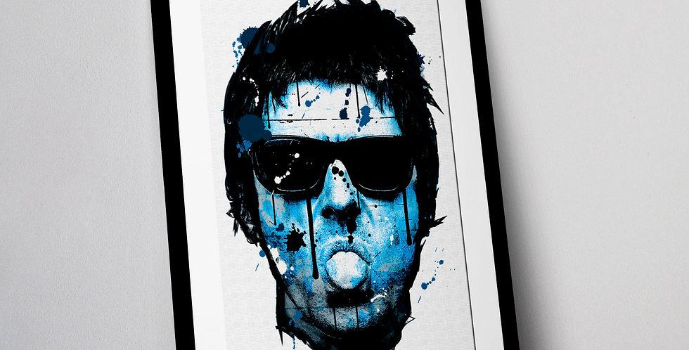 Liam Gallagher Graffiti Art Print