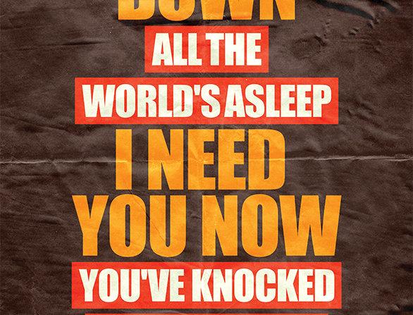 Oasis Slide Away Grunge Poster Art Print