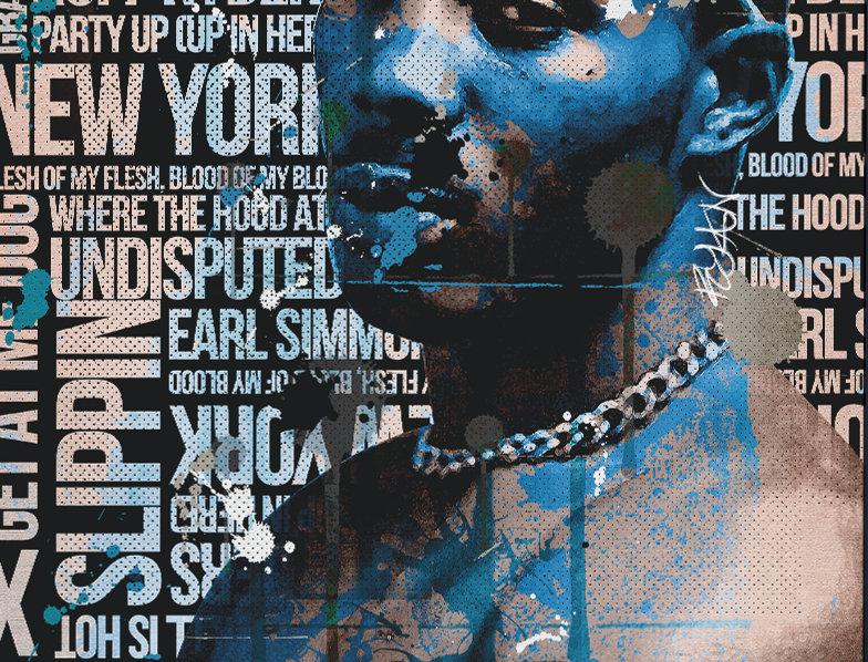 DMX Tribute Poster Art Print Ruff Ryders Anthem