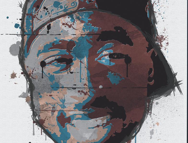 2Pac Hip-Hop Graffiti Art Poster Art Print