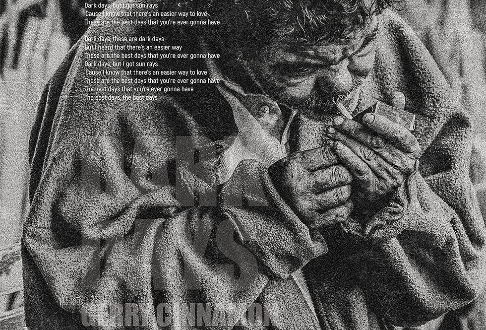 Gerry Cinnamon Dark Days Lyrics The Bonny Swiss Poster Art Prin
