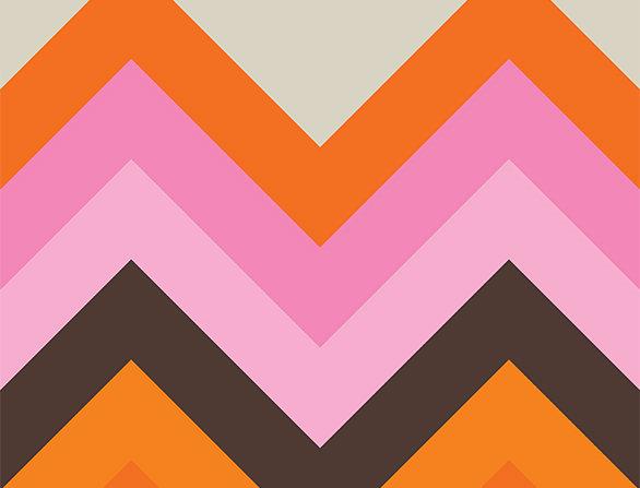 Retro Lounge Pink Peaks 60s Love Poster Art Print