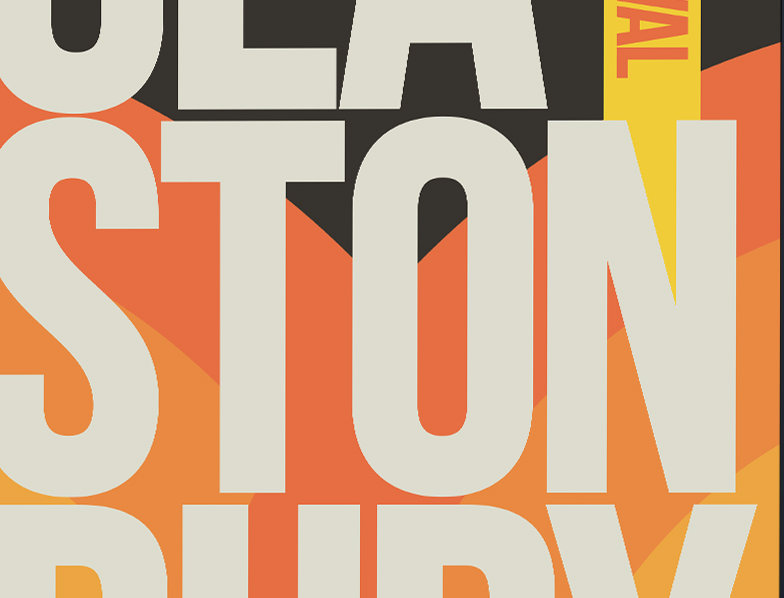 Glasto Typography Poster Art Print