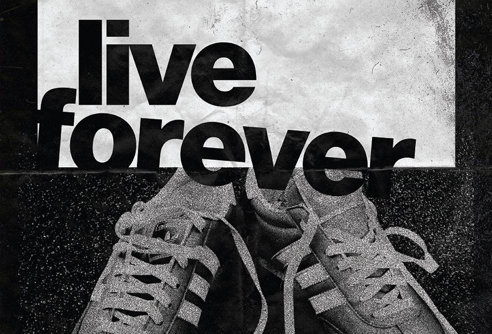 Live Forever Oasis Art Print