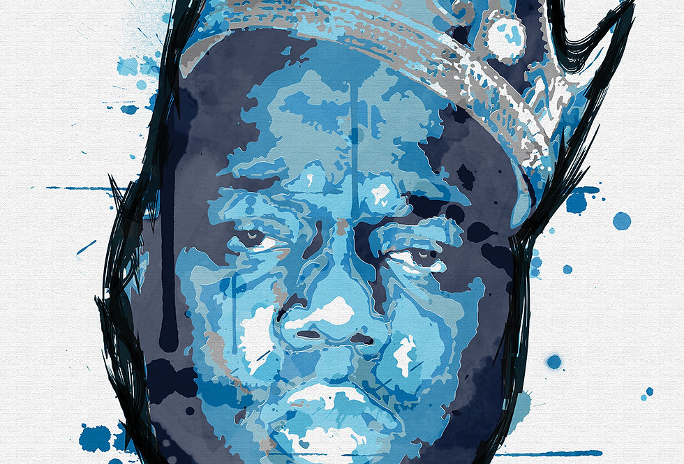 Biggie Smalls Graffiti Paint Street Art Print