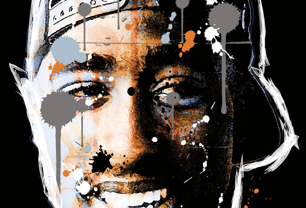 Tupac Poster Art Print 2Pac Hip-Hop Graffiti Art