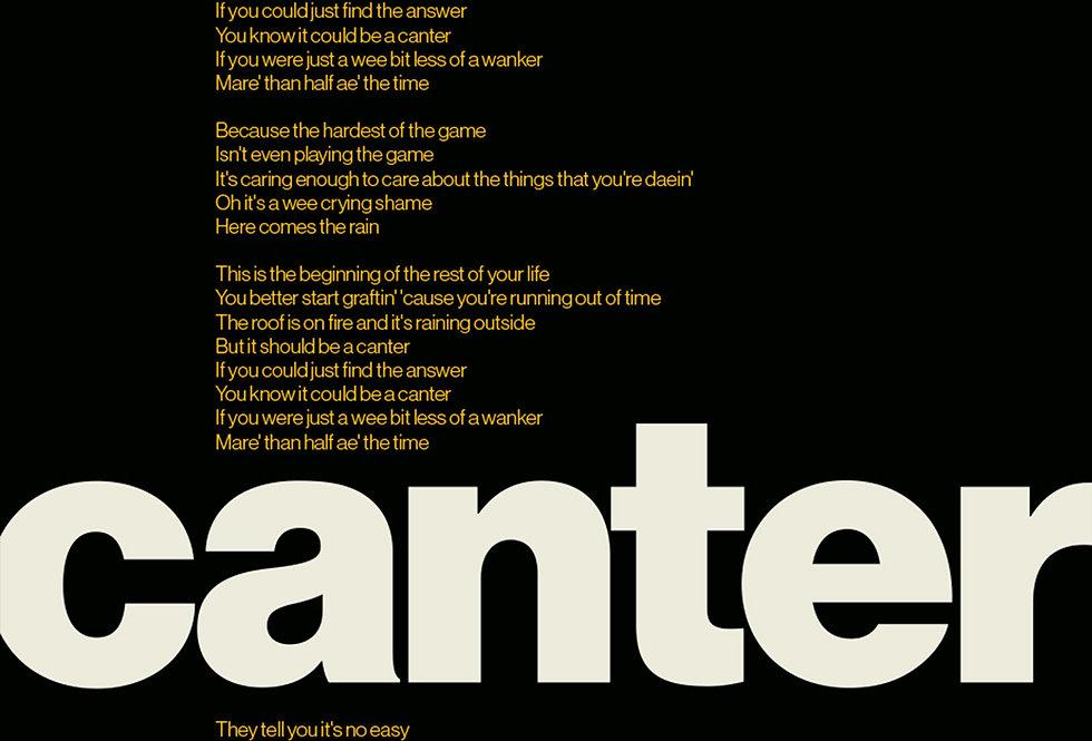 Gerry Cinnamon Canter Lyrics Swiss Poster Art Print