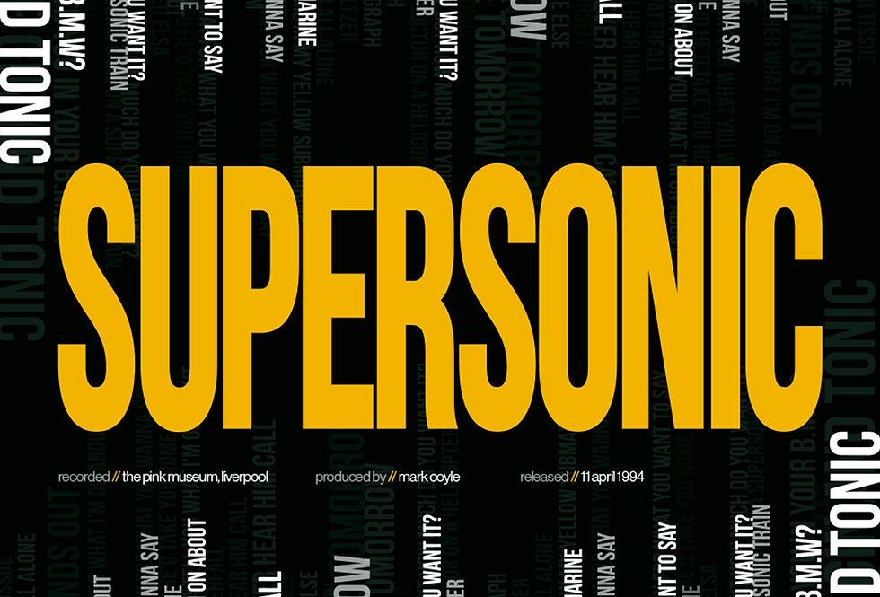 Oasis Supersonic Lyrics Poster Definitely Maybe Art Print Yellow