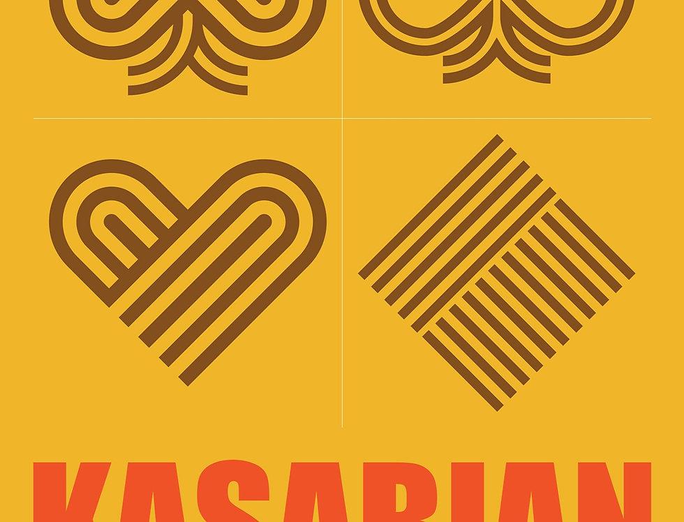 Kasabian Poster Art Print Grunge   West Ryder Pauper Lunatic Asylum