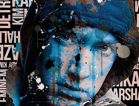 Eminem Graffiti Poster Art Print