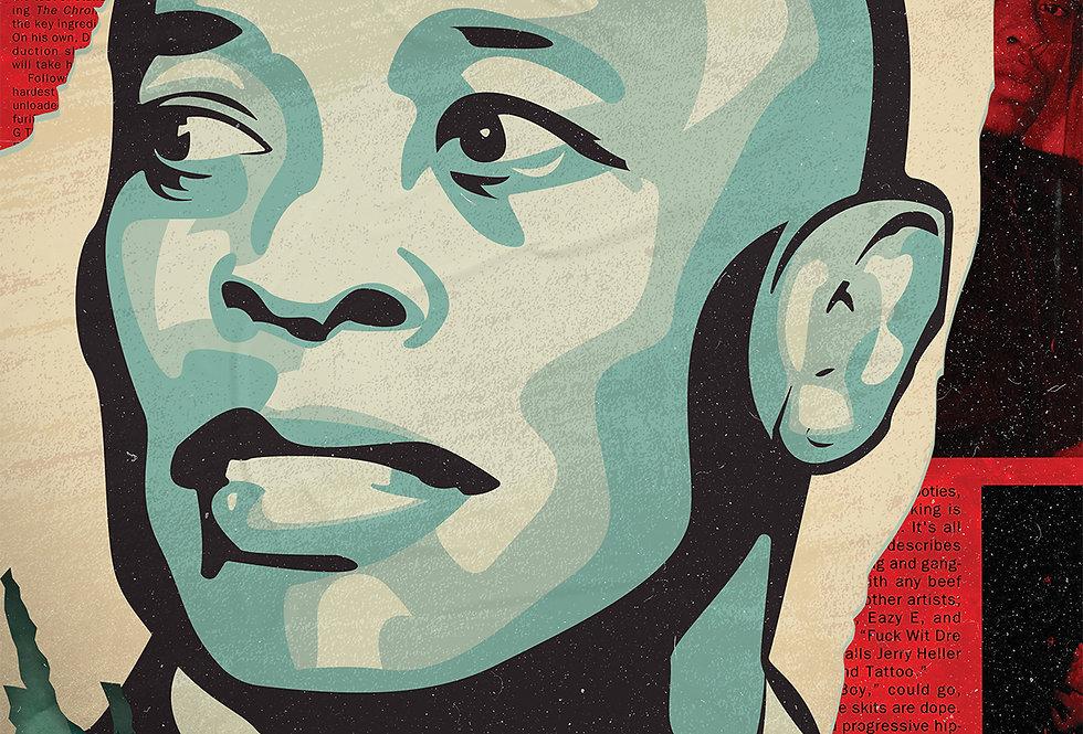 Dr. Dre Obey The Chronic Poster Album Hip-Hop Art Print