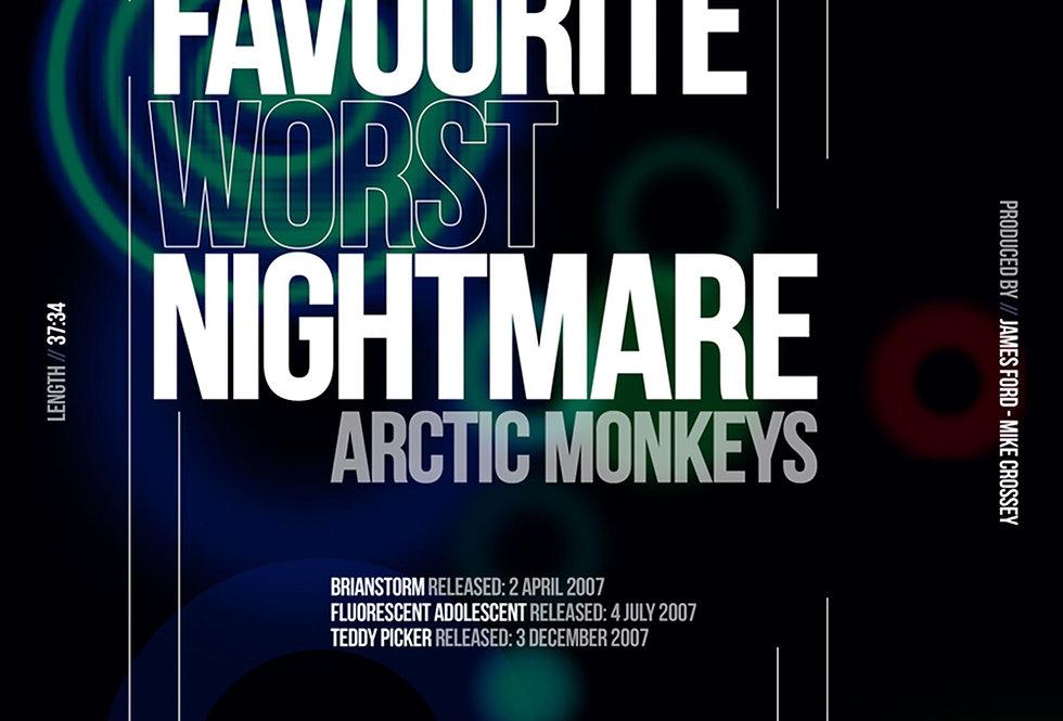Arctic Monkeys Favourite Worst Nightmare Art Print