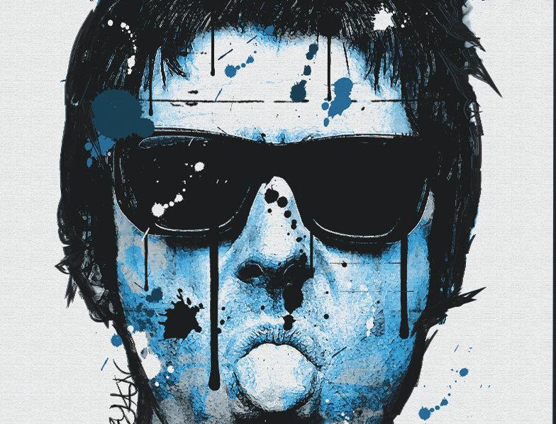 Liam Gallagher Blue Moon Graffiti  Poster Art Print