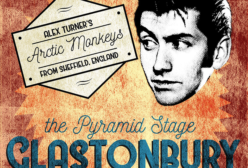 Arctic Monkeys Glastonbury 2013 Concert Poster Art Print