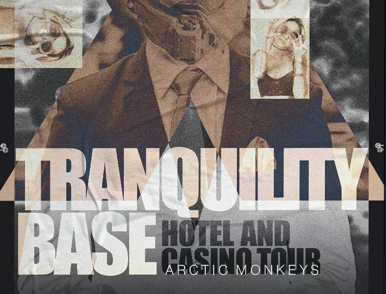 Tranquility Base Arctic Monkeys Tour Poster Art Print