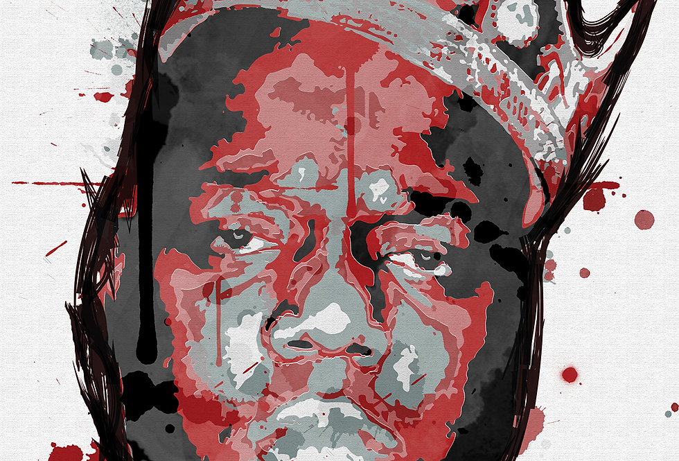 Red Biggie Smalls Poster Art Print Graffiti Paint Street Art Notorious