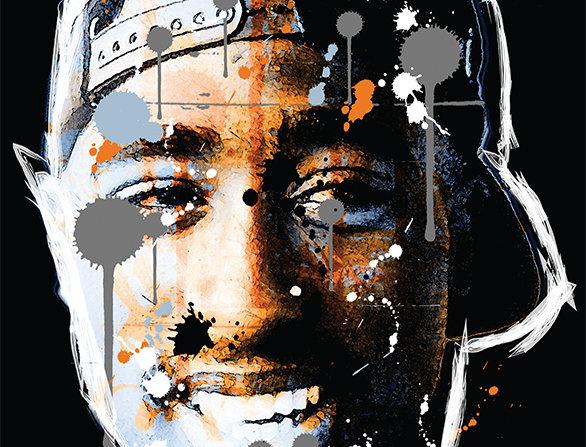 2Pac Graffiti Hip-Hop Print Poster Art Print