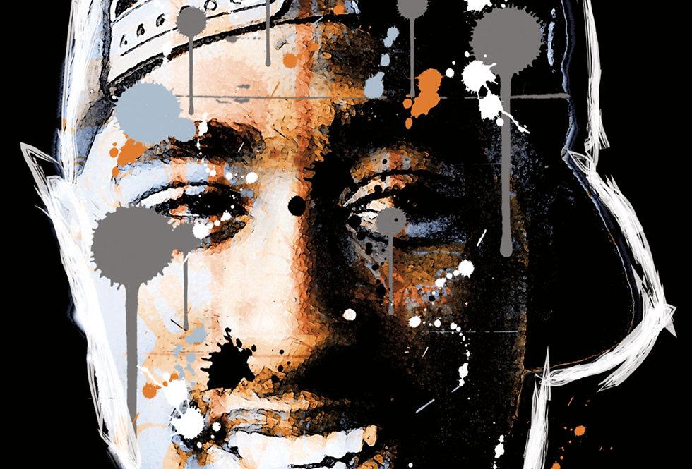 Tupac Hip-Hop Graffiti Art Print