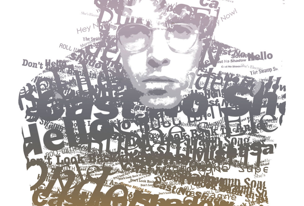 Liam Gallagher What's The Story Typography Print