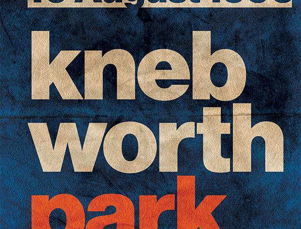 Oasis Knebworth Grunge Poster Art Print