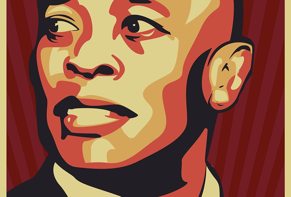 Obey Dr Dre The Chronic Poster Art Print 2001 Red