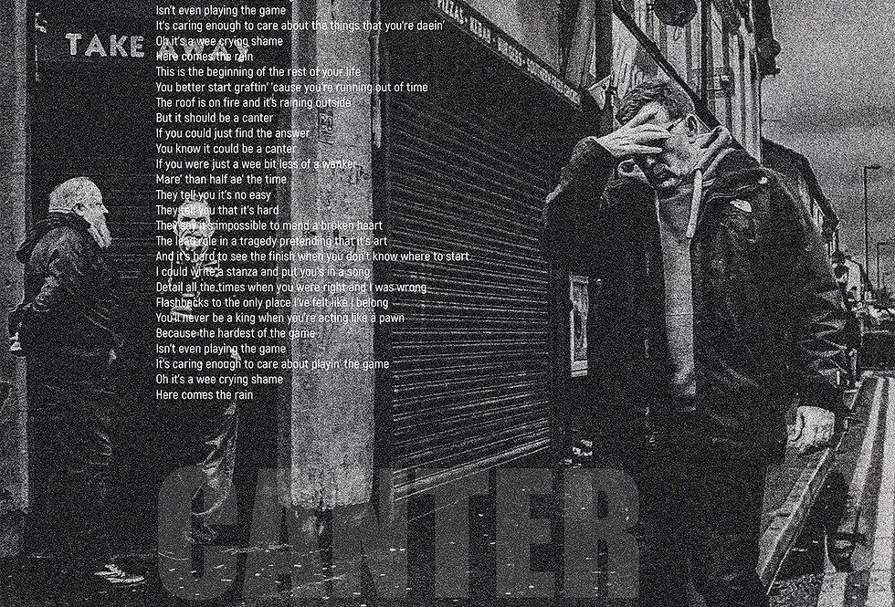 Gerry Cinnamon Canter Lyrics The Bonny Swiss Poster Art Print
