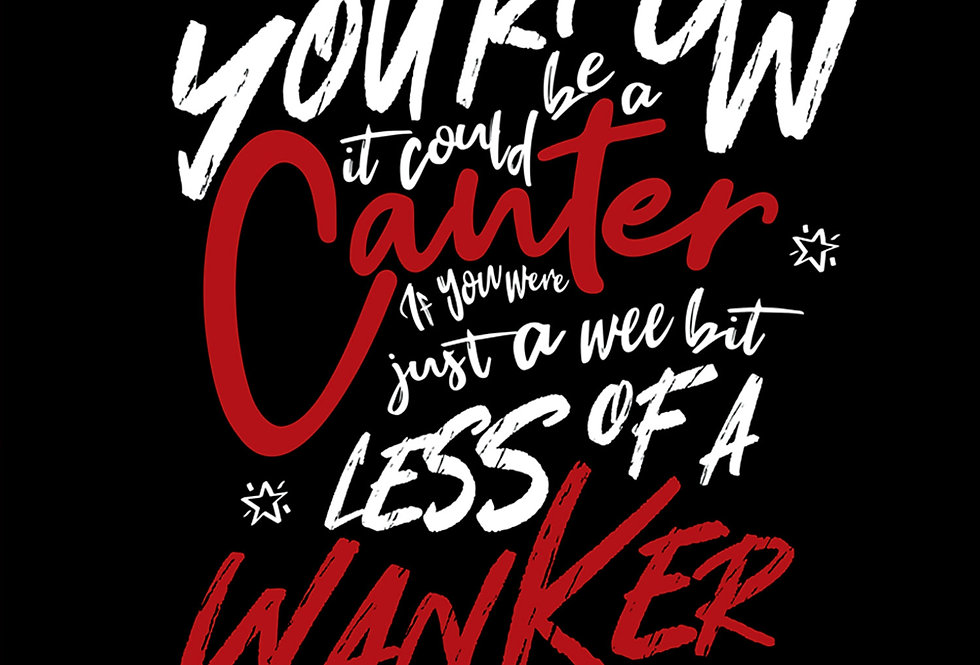 Gerry Cinnamon Hand Lettering Canter Poster Art Print