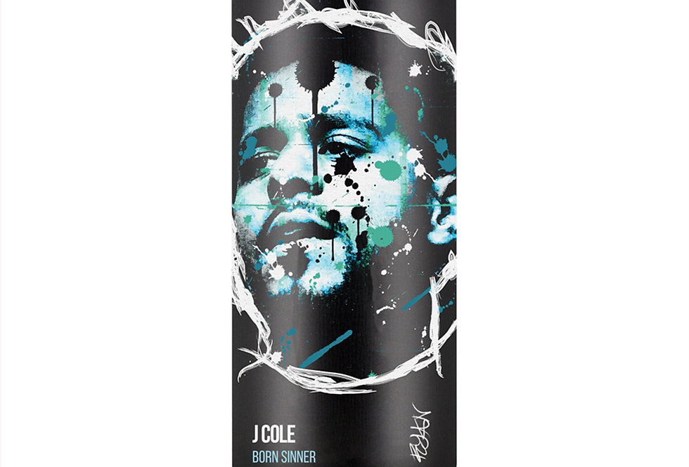 J Cole Hip-Hop Spray Can Art Print
