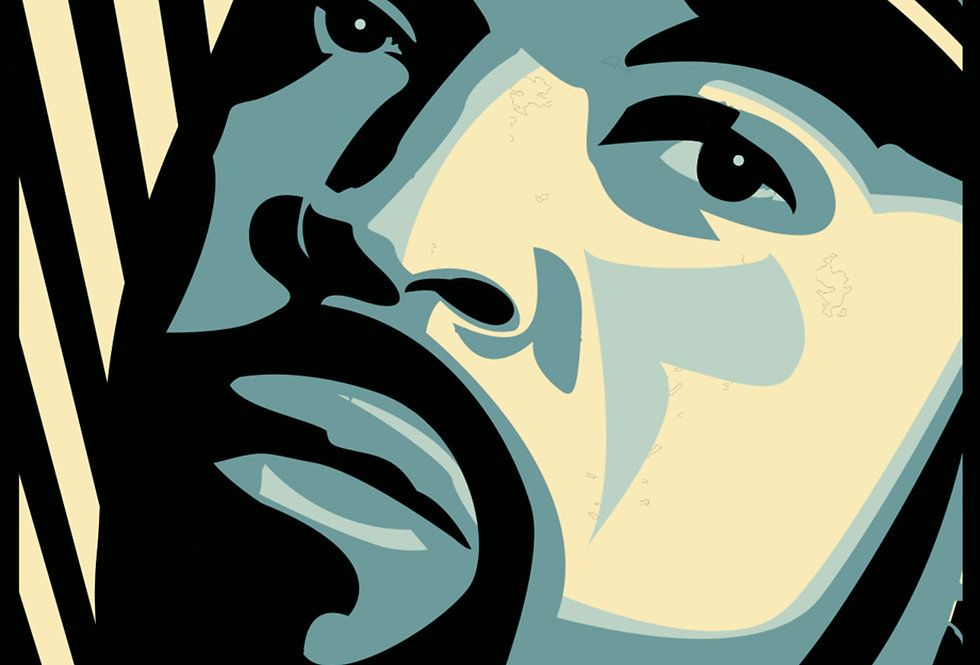 Ice Cube Hip-Hop Vector Art Print
