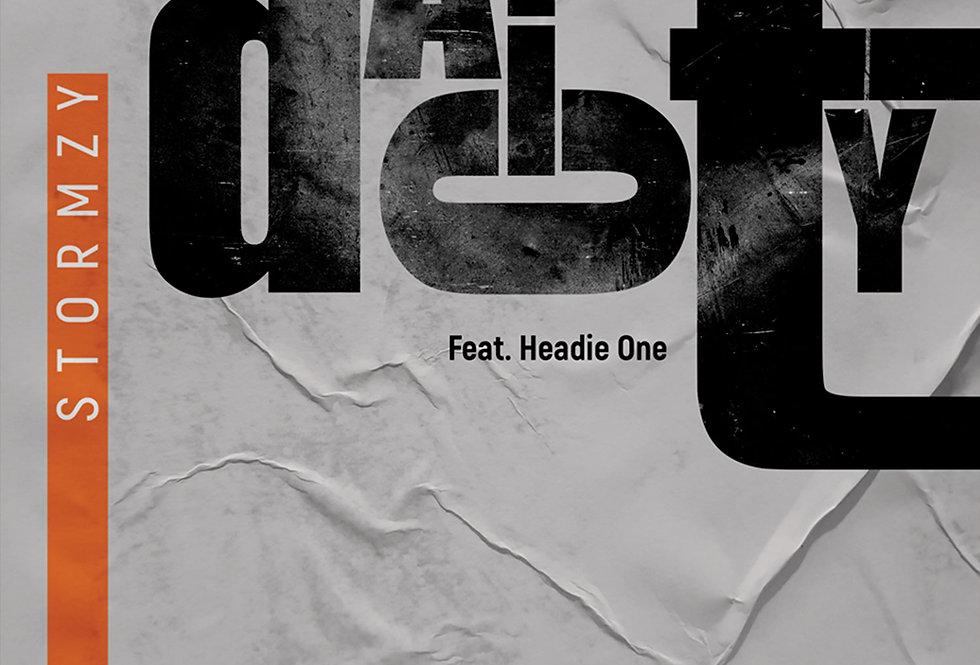 Audacity Heavy Is The Head Stormzy Letterpress Poster Art Print