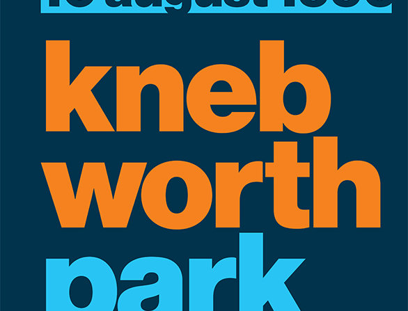 Oasis Knebworth Gig Poster Art Print