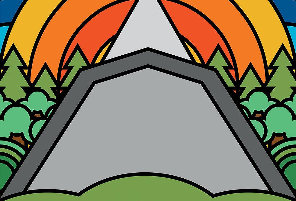 Pyramid Stage Glastonbury Festival Poster Art Print