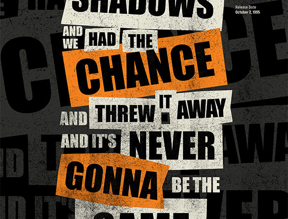 Oasis Hello Lyrics Grunge Poster Art Print