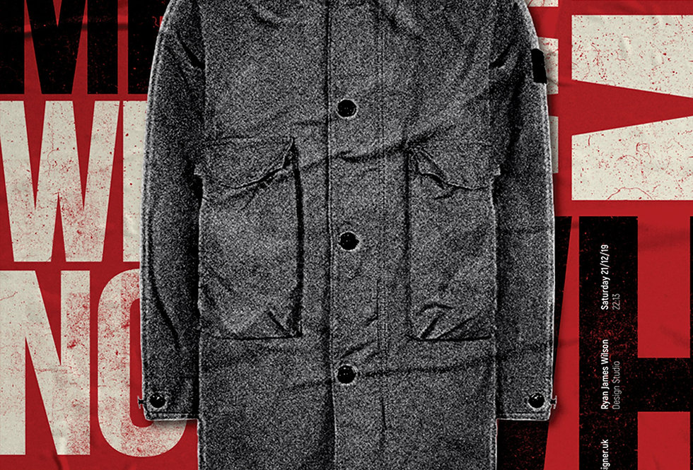 Red Liam Gallagher Why Me? Why Not Parka Poster Art Print