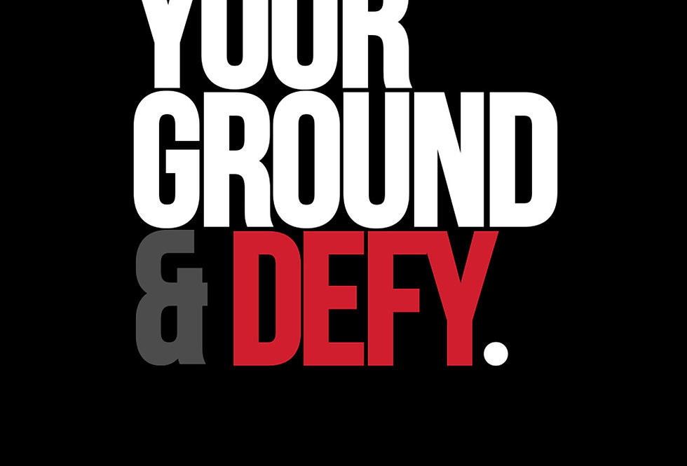 Stand Your Ground & Defy Why Me? Why Not Poster Art Print