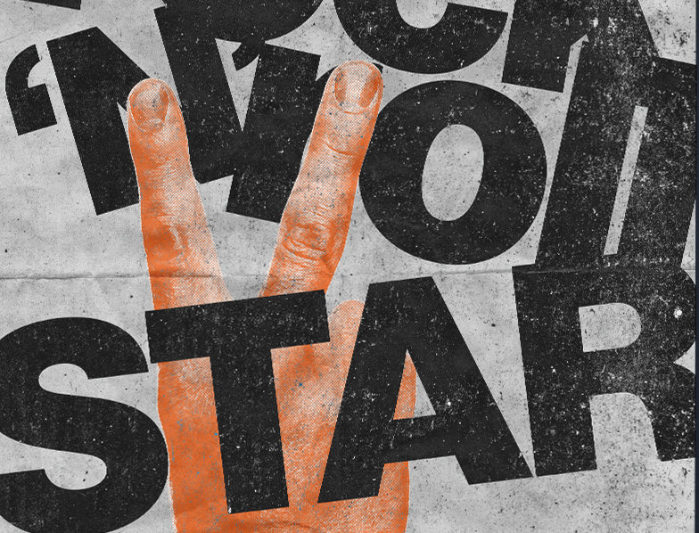 Rock N Roll Star Oasis Poster Art Print
