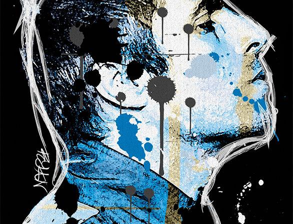 Liam Gallagher Graffiti  Poster Art Print