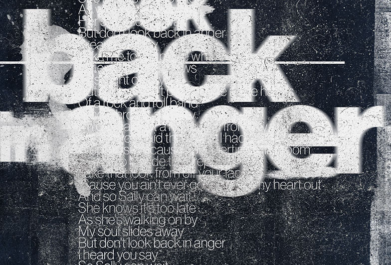 Grunge Don't Look Back In Anger Lyrics Poster Definitely Maybe Art Print Brody