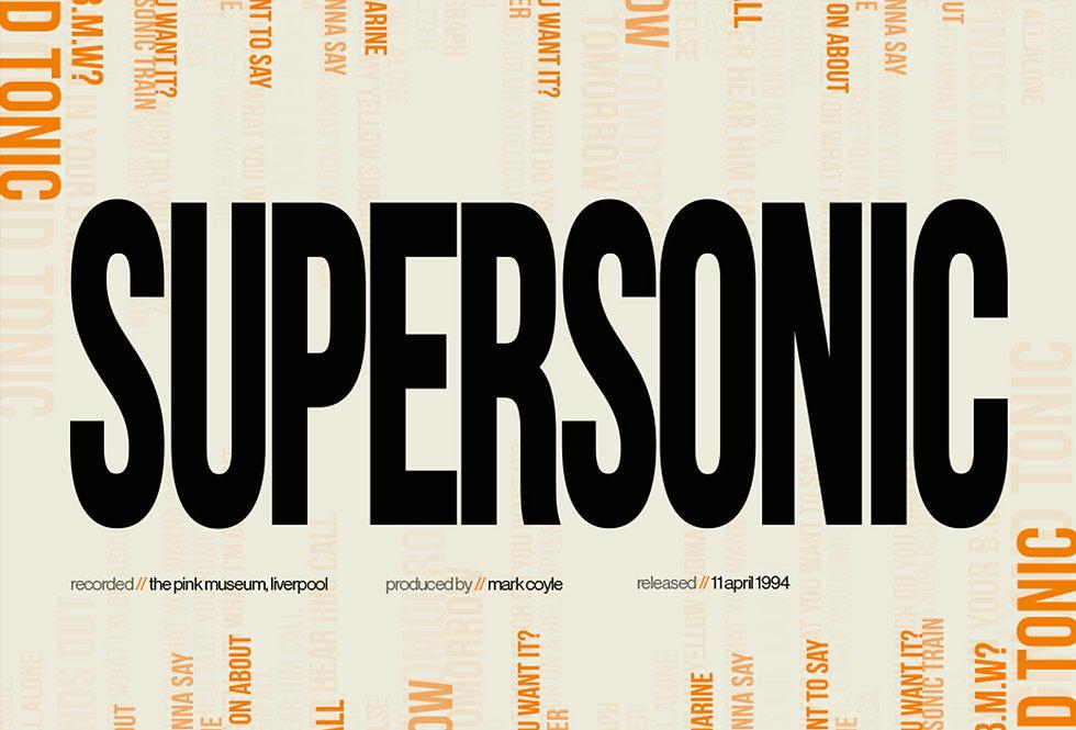 Oasis Supersonic Lyrics Poster Definitely Maybe Art Print Orange