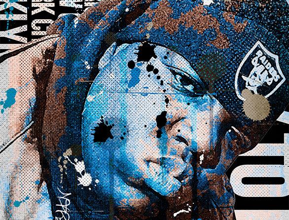 Biggie Smalls Graffiti Poster Art Print