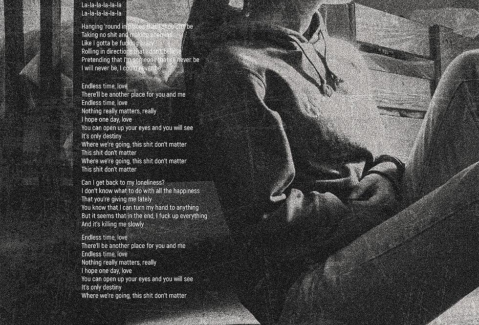 Gerry Cinnamon Where We're Going Lyrics The Bonny Swiss Poster Art Print